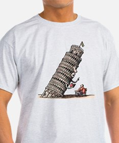 Leaning Tower Teaches Italian Language to T-Shirt