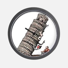 Leaning Tower Teaches Italian Language Wall Clock