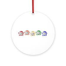 Rainbow Toaster Ornament (Round)