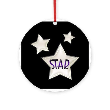 20s Art Deco Stars Ornament (Round)