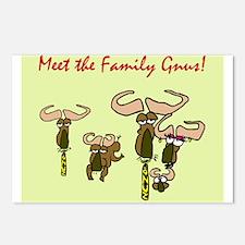 Wierd Gnus Family Postcards (Package of 8)
