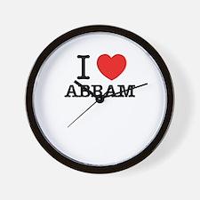 I Love ABRAM Wall Clock