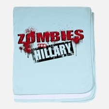 Zombies for Hillary baby blanket