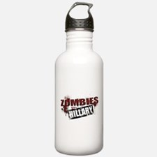 Zombies for Hillary Water Bottle