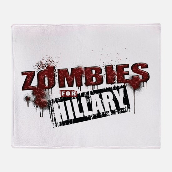 Zombies for Hillary Throw Blanket