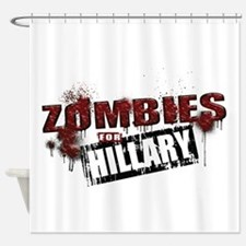 Zombies for Hillary Shower Curtain