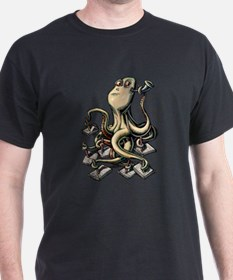 Octopus Writes With Many Arms T-Shirt