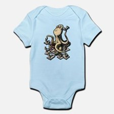 Octopus Writes With Many Arms Body Suit