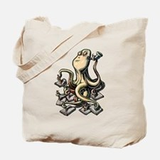 Octopus Writes With Many Arms Tote Bag