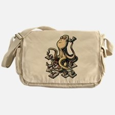 Octopus Writes With Many Arms Messenger Bag