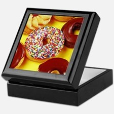 Assorted delicious donuts Keepsake Box