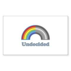 Undecided Rainbow Rectangle Decal