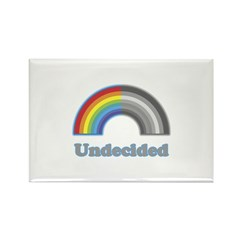 Undecided Rainbow Rectangle Magnet (100 pack)