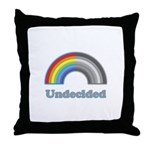 Undecided Rainbow Throw Pillow