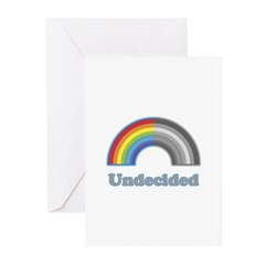 Undecided Rainbow Greeting Cards (Pk of 20)