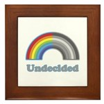 Undecided Rainbow Framed Tile