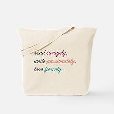 Read, Write, Love Tote Bag