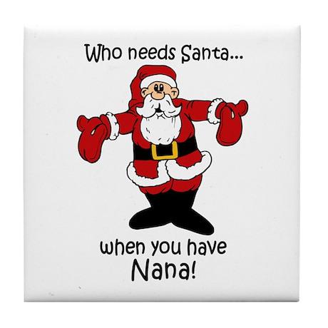 Who needs Santa Tile Coaster