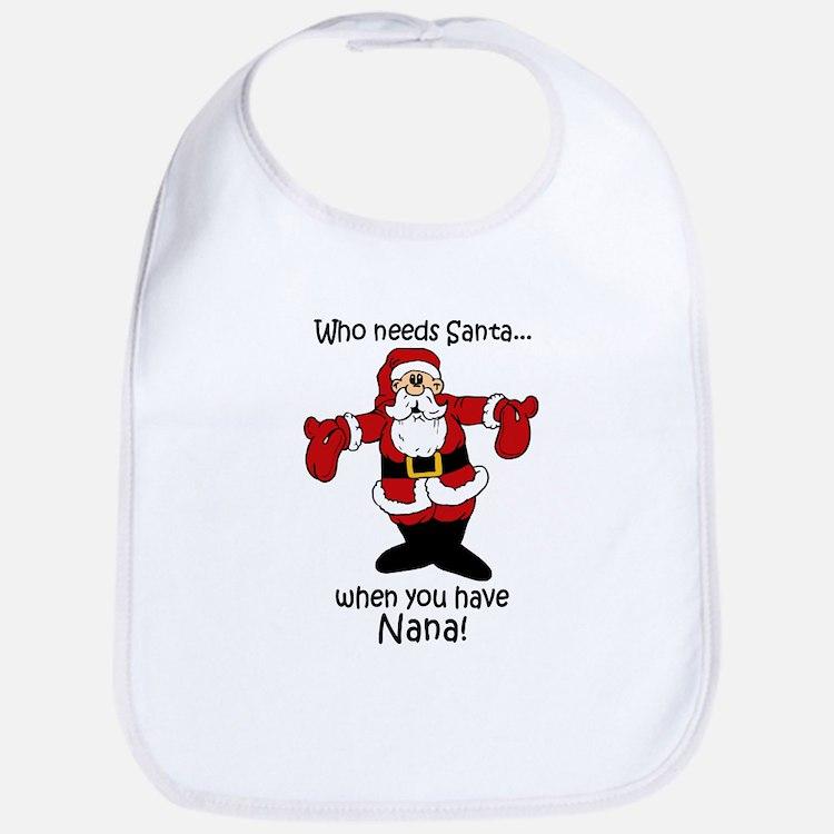 Santa claus baby bibs burp cloths
