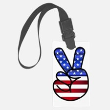 Cute Peace symbol Luggage Tag