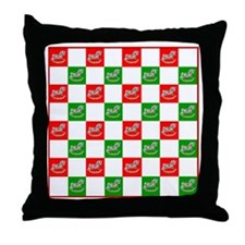 Christmas Checker Board Throw Pillow