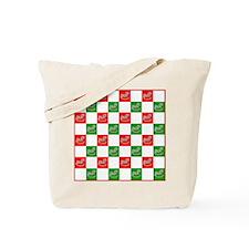 Christmas Checker Board Tote Bag