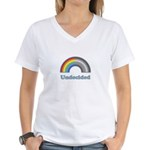 Undecided Rainbow Women's V-Neck T-Shirt