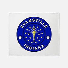 Evansville Indiana Throw Blanket