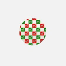 Christmas Checkers Mini Button