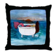 Bath tub Mermaid Throw Pillow