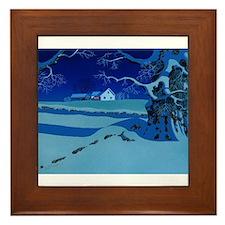 Twilight Snow Framed Tile