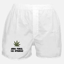 Don't Panic, Its organic! Boxer Shorts