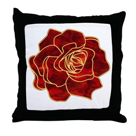 Red Rose Decorative Pillow : Red Rose Throw Pillow by bjasmine