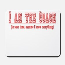 I'm the Coach- Red Mousepad