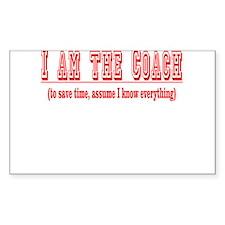 I'm the Coach- Red Sticker (Rectangular)