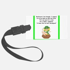 funny limerick Luggage Tag