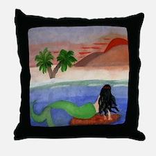 Sunset Mermaid Throw Pillow