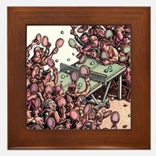 Crowded Ping Pong Game Framed Tile