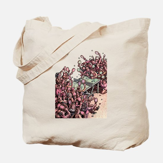 Crowded Ping Pong Game Tote Bag