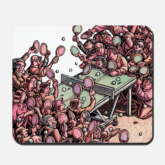 Crowded Ping Pong Game Mousepad