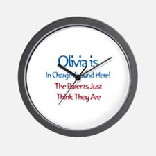 Olivia Is In Charge Wall Clock