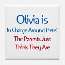 Olivia Is In Charge Tile Coaster