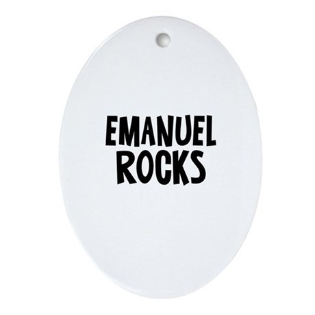 Emanuel Rocks Oval Ornament