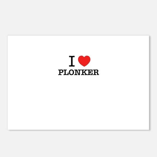 I Love PLONKER Postcards (Package of 8)