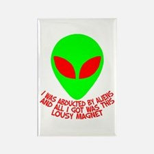 Abducted By Aliens Rectangle Magnet