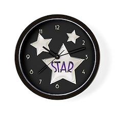 20s Art Deco Stars Wall Clock