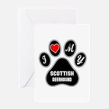 I love my Scottish Deerhound Dog Greeting Card
