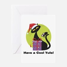 Cool Yule Kitty Greeting Card