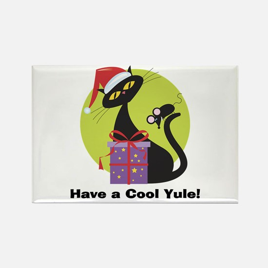 Cool Yule Kitty Rectangle Magnet (10 pack)