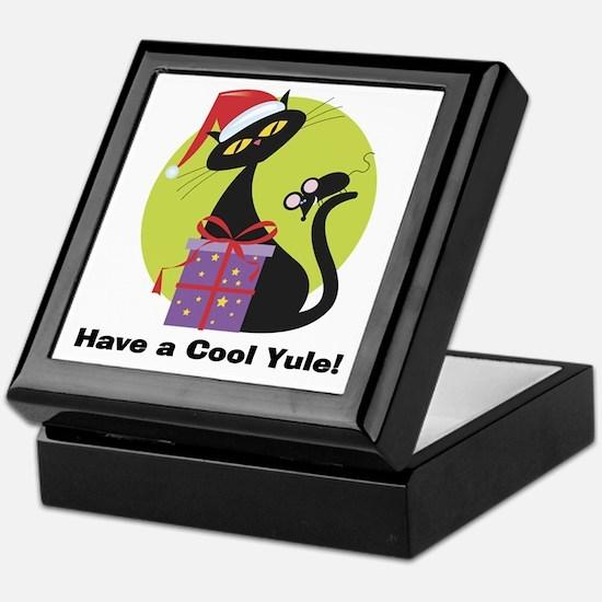 Cool Yule Kitty Keepsake Box